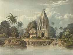 Village and Pagoda below Patna Azimabad, on the Ganges